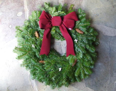 Wreathdecorated