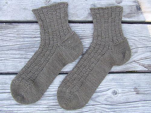 C's Basketweave Socks