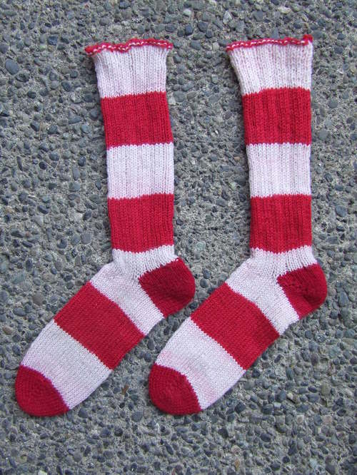 E's stripey socks