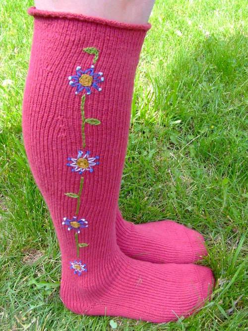 Red knee socks