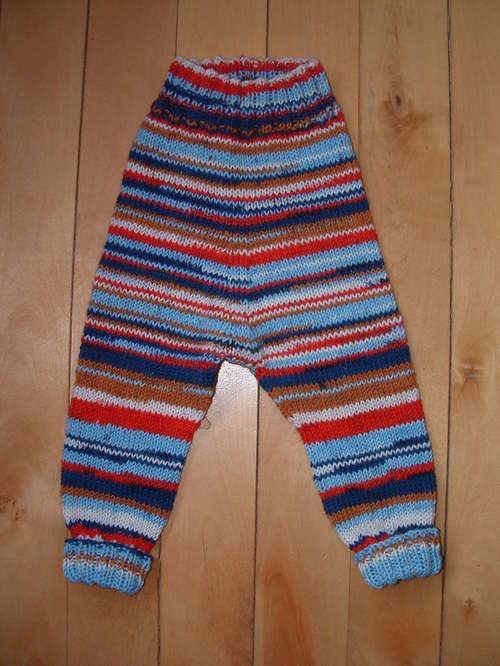 Pre Blog Finished Knitting Baby Leggings