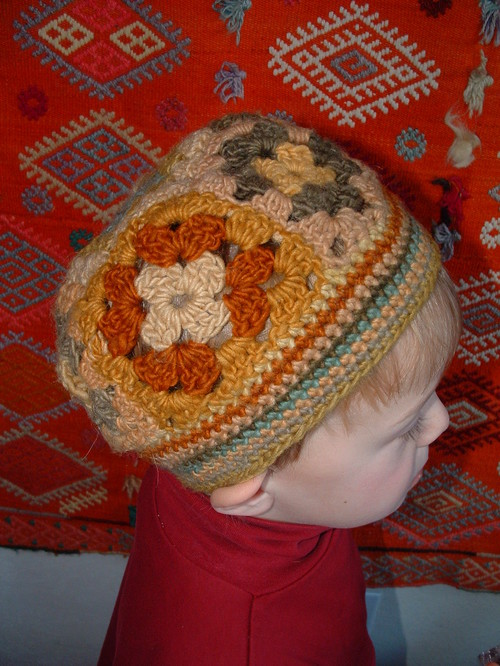 Plant-dyed Crocheted Beanie