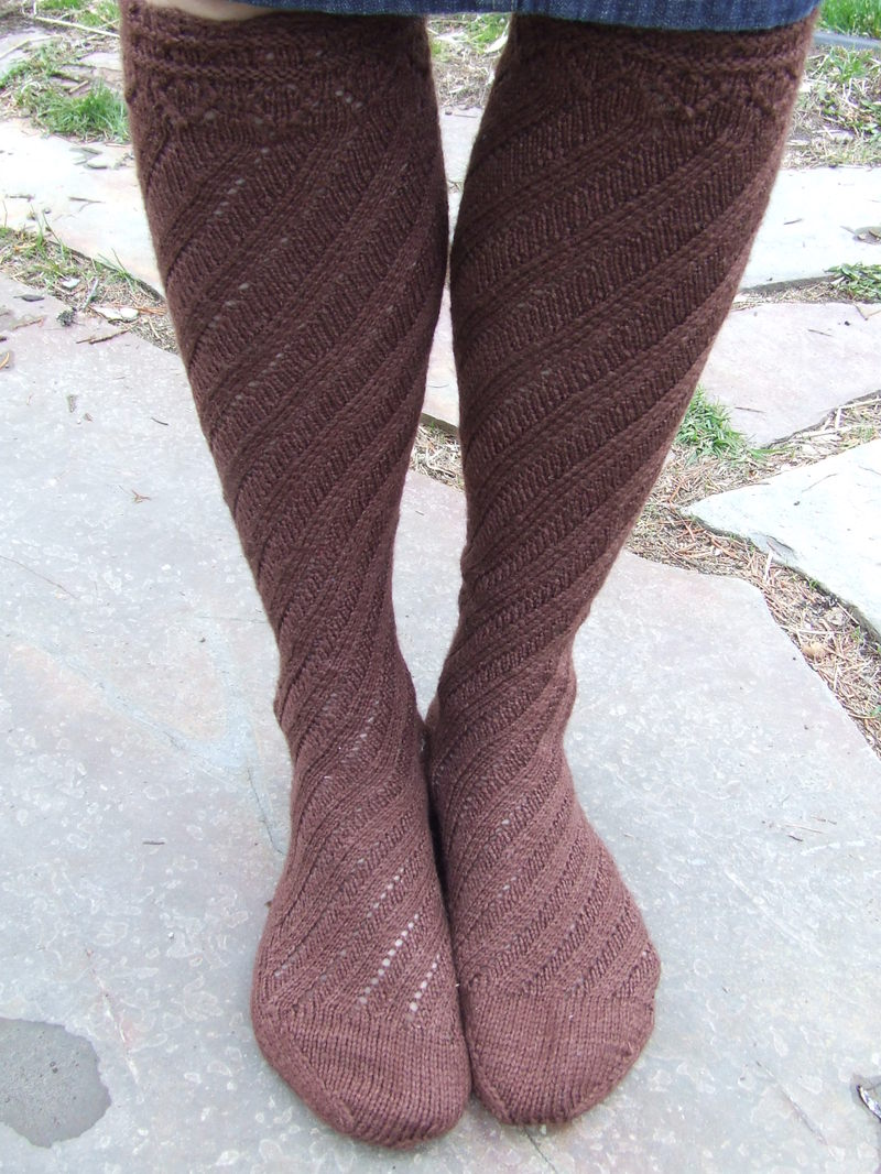 Knitting Iris: Spiral Boot Socks